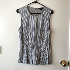 J. Crew Sleeveless striped blouse